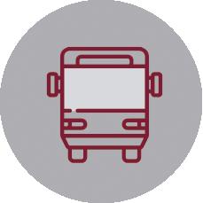 Servicio de transporte escolar en el Colegio Eskibel en San Sebastián.