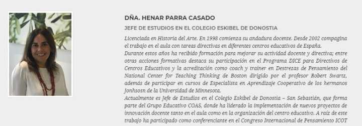 """Henar Parra dará las claves para construir """"colegios con personalidad"""" en Eduketing"""